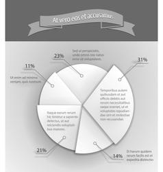 3d business pie chart vector