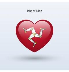 Love isle of man symbol heart flag icon vector