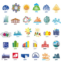 Biggest collection of logos cities vector