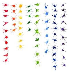 Set of color watercolor blots vector