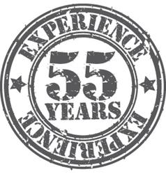 Grunge 55 years of experience rubber stamp vector