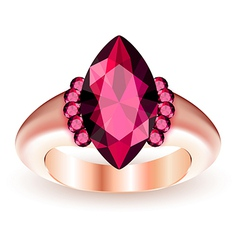 Ring with gemstone vector