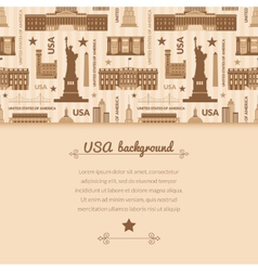 Landmarks of united states of america background vector