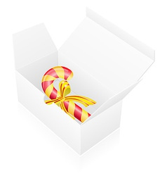 New year packing box with candy vector