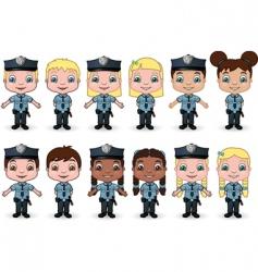 Children police vector