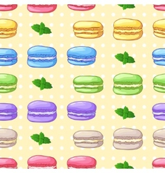 Beautiful seamless pattern with french dessert vector