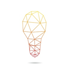 Lightbulb abstract isolated vector
