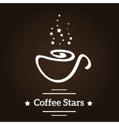 Coffee stars vector
