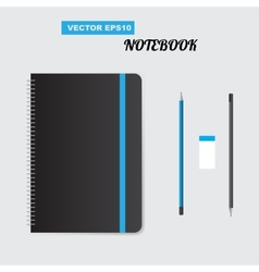 Realistic spiral notepad notebook vector