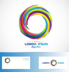 Abstract circle business logo colors vector