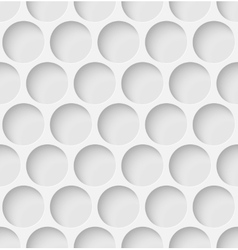 White paper seamless circle background vector