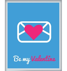 Stvalentine icons card 6 vector