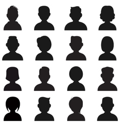 People silhouettes icon vector