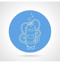 Aqualung cylinder round icon vector