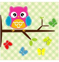Whimsical owl vector