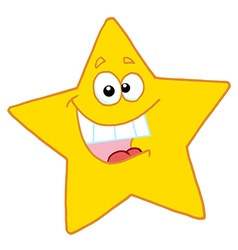 Cheerful yellow star vector
