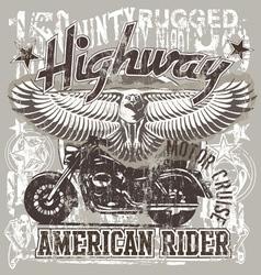 American highways rider vector