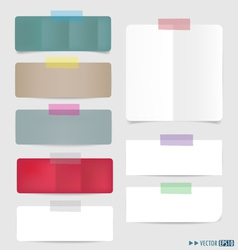 Set of colorful paper tags vector