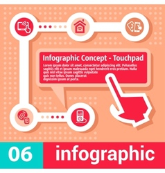 Infographic concept touchpad vector