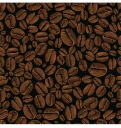 Coffee bean seamless vector