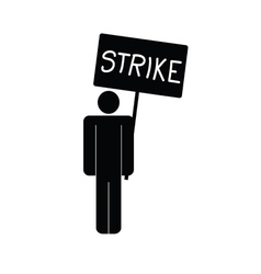 Strike icon with man vector