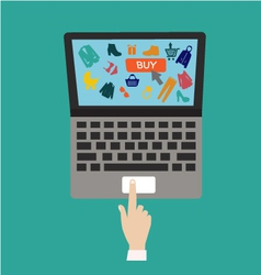 Flat internet shopping vector