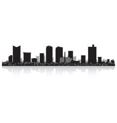 Fort worth usa city skyline silhouette vector