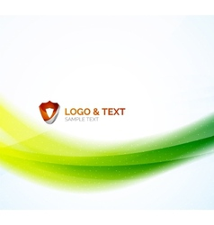 Futuristic business green and blue colors wave vector