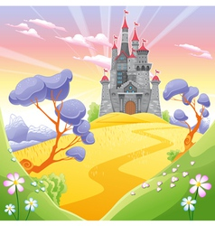 Landscape with tower vector
