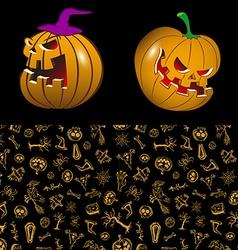 Halloween in cartoon style vector