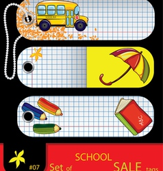 Price tags school elements vector