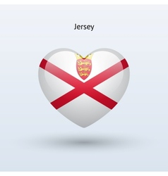 Love jersey symbol heart flag icon vector