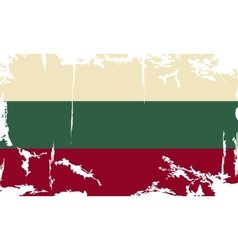 Bulgarian grunge flag vector
