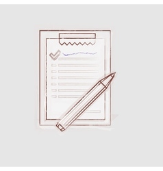 Sketch of clipboard for outsource vector