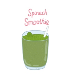 Cartoon hand drawn spinach smoothie vector