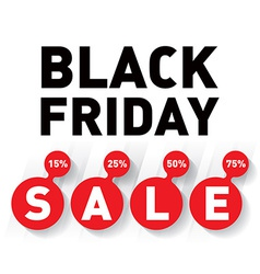 Black friday sale banner on white background vector