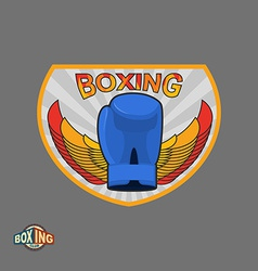 Boxing emblem logo boxing club vector