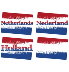 Abstract flag of netherlands vector
