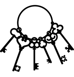 Antique skeleton keys vector