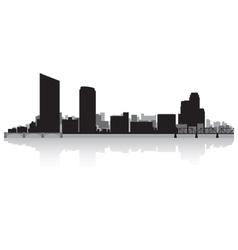 Grand rapids usa city skyline silhouette vector