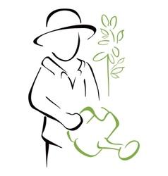 Garden caring vector