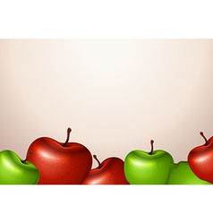 A template with red and green apples vector
