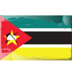 Mozambique national flag vector