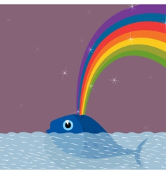 From a whale the rainbow pours out a vector
