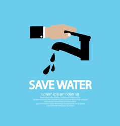 Water conservation conceptual vector