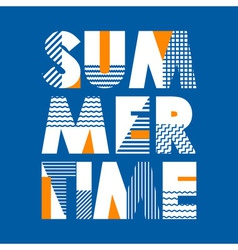 Summer time t-shirt typography vector