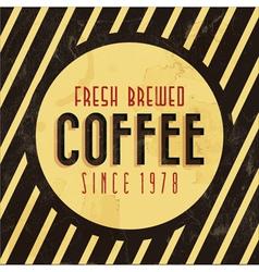 Retro vintage coffee background vector