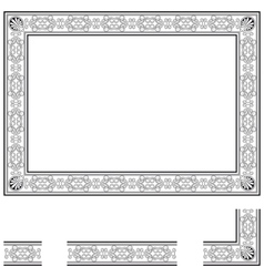 Deco frame vector