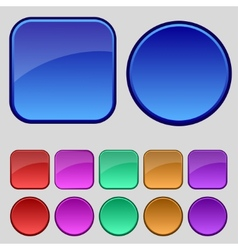 Set of blank colourful web buttons for website or vector