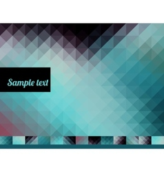 Trendy background of triangles vector